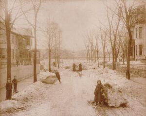 1904 Ice Flood, Lower Montgomery Ave.