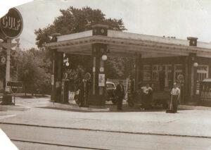 New Gulf Station - Corner of Wyoming and Montgomery, 1937