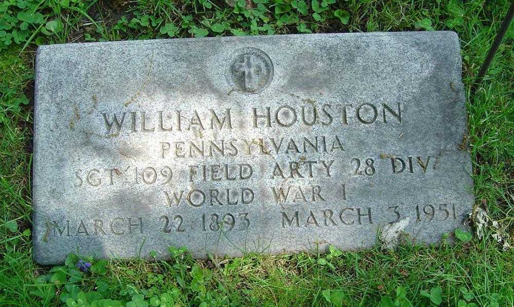 HOUSTON, William G. Gravestone