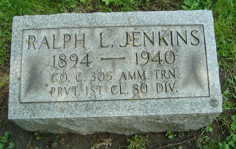 Ralph Lawrence Jenkins Gravestone