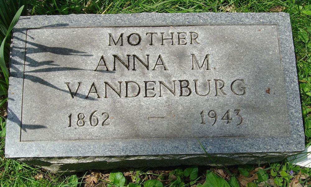 Anna M. Berry Vandenburgh Gravestone