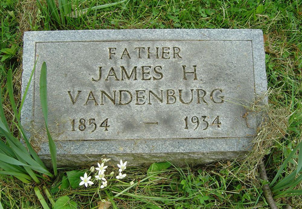 James H. Vandenburg Gravestone