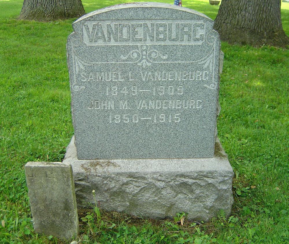 Samuel L. Vendenburg Gravestone