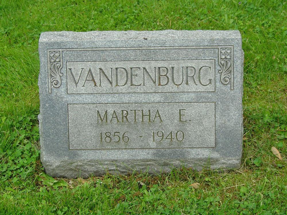 Martha E. Vandenburg Gravestone